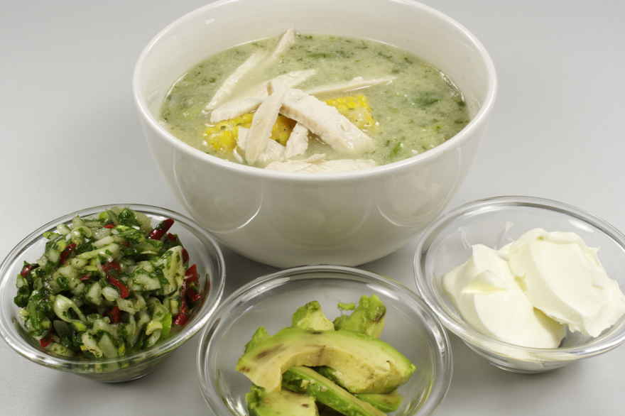 Ajiaco suppe ... klik for at komme tilbage